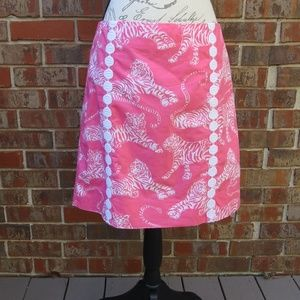 Lilly Pulitzer Skirts - Lilly Pulitzer Pink Tiger Print Skirt